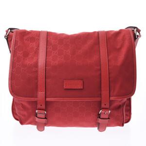 GUCCI Gucci GG pattern 510334 Unisex nylon leather shoulder bag