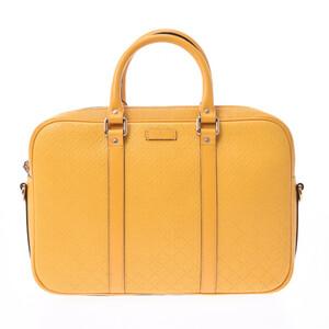 GUCCI Gucci Diamante 2WAY bag document yellow 344357 unisex calf business