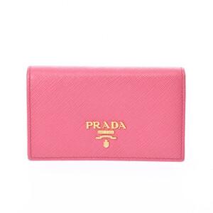 PRADA Prada Card Case Pink 1MC122 Ladies Leather Business Holder