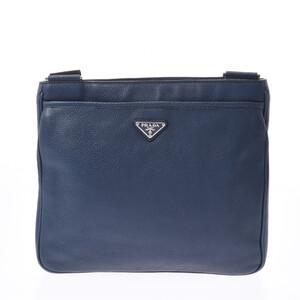 PRADA Prada Blue VA1034 Unisex Calf Shoulder Bag