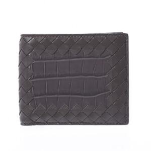 Bottega Veneta Intrecciato Gray Men's Leather