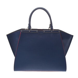 FENDI Trois Jules Blue Ladies Calf Handbag