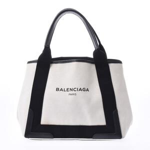 BALENCIAGA Navy Hippo S Ladies Canvas Leather Handbag