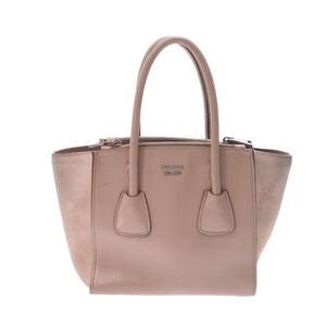 PRADA Prada 2WAY bag mini beige silver metal fittings ladies calf suede handbag