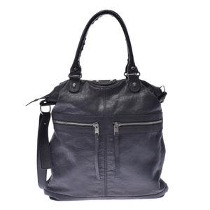 BALENCIAGA Balenciaga Classics Square 2WAY Bag Gray Silver Hardware Unisex Calf Handbag