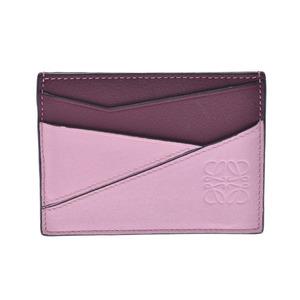 LOEWE Loewe Puzzle Pink Bordeaux Unisex Calf Card Case