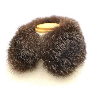 Hermes Fox Fur Tippet Muffler Silk