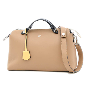 Fendi by the Way 2way Shoulder Bag Boston Yellow Beige 8BL125