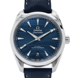 OMEGA Seamaster Master Chronometer Steel Leather Automatic Mens Watch 220.13.38.20.03.001