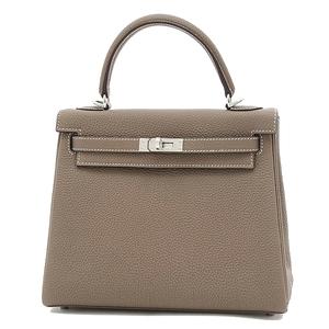 Hermes Kelly 25 Inner Sewn Togo Etup Silver Hardware Handbag