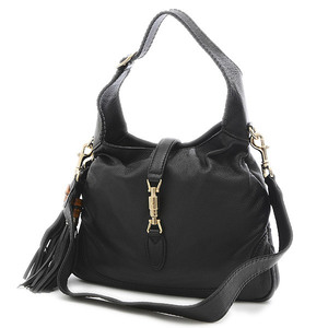Gucci New Jackie 2Way Shoulder Bag Leather Black 246907