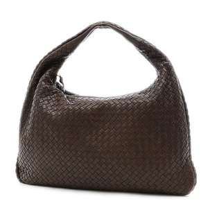 Bottega Veneta Intrecciato One Shoulder Bag Leather Brown 115654