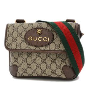 Gucci GG Supreme Small Messenger Shoulder Bag Metal Cat 501050