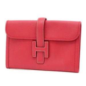 Hermes Jige PM Clutch Bag Epson Red