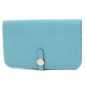 Hermes Dogon GM Duo Swift Blue Atoll Silver Hardware Handbag