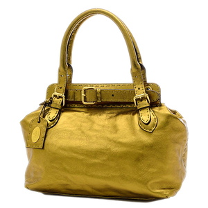 Fendi Celeria Handbag Leather Gold 8BN155