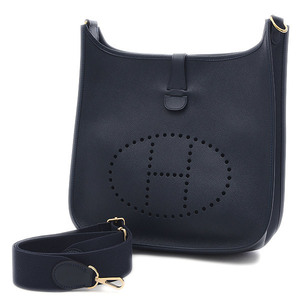 Hermes Evelyn GM Kushbel Navy Gold Hardware Shoulder Bag