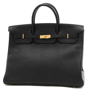Hermes Birkin 40 Fjord Black Gold Hardware Handbag