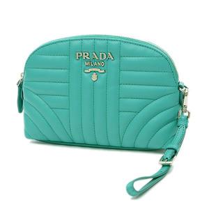 Prada Pouch Leather Green 1NE010
