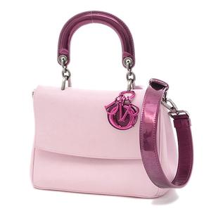 Christian Dior Dior B 2Way Bag Calf Leather Metallic Pink Baby