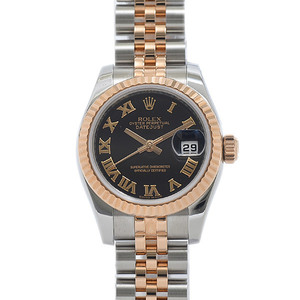 ROLEX Datejust 179171 18K Pink Gold Steel Automatic Ladies Watch