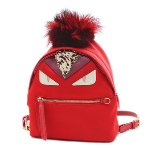 Fendi Monster Bugs Eye Backpack Mini Nylon Red 8BZ038