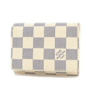 Louis Vuitton Damier Azur Amberop Cult de Visit Business Card Holder N61746