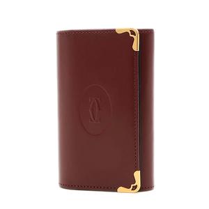 Cartier Mastline Key Case 6 Calfs Bordeaux L3000452