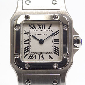 CARTIER Cartier Ladies Watch Santos Galve SM W20056D6 Silver Dial Quartz