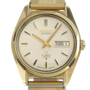 SEIKO Hi-Beat 36000 Gold Plated Automatic Mens Watch 6146-8000