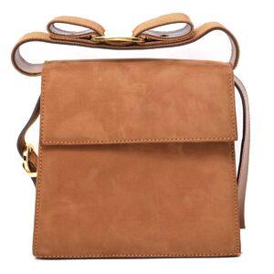 Salvatore Ferragamo Ferragamo Suede Vala 2WAY Bag Beige Leather