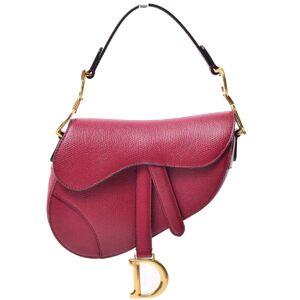 Christian Dior mini saddle bag bordeaux shoulder hand leather