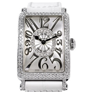 FRANCK MULLER Long Island Relief Diamond Steel Quartz Ladies Watch 902QZ D CD 1R