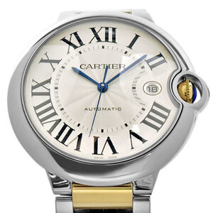 CARTIER Ballon Bleu LM 18K Gold Steel Automatic Mens Watch W6900923
