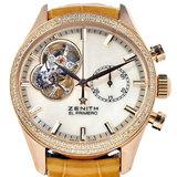 Zenith ZENITH Chronomaster El Primero Open Chronograph Diamond Bezel Ladies Watch Automatic White Shell K18RG 22.2150.4062 / 81.C753