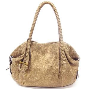 Salvatore Ferragamo 2Way Shoulder Bag Gancini Leather Gold Ladies