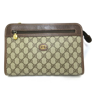 Gucci GUCCI Old Clutch Bag Men's Women's Vintage GG PVC Leather 014 166 6063