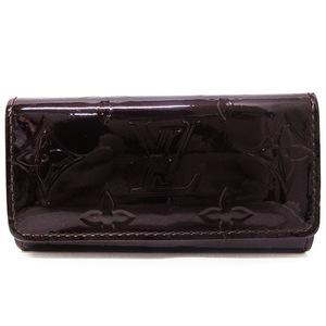 Louis Vuitton Key Case 4 Series LV Verni Multikre Ladies M93517 Amarant