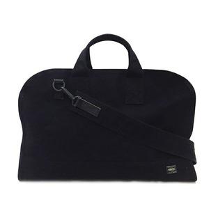 Porter Boston Bag Black Stain 585-08732 2WAY Canvas Unisex