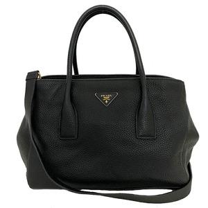 Prada Tote Bag Black BN2808 2WAY Leather Ladies Handbag Shoulder