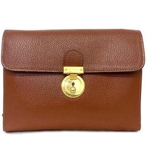 Salvatore Ferragamo Second Bag Brown Leather Clutch