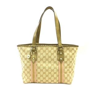 Gucci Tote Bag Sherry 137396 205027 GG Canvas Ladies Handbag
