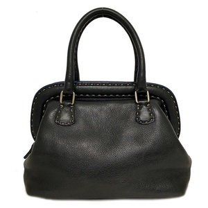 Fendi Handbag Black Celeria Leather Women's Tote Bag