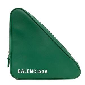 Balenciaga Triangle Pouch Clutch Bag Leather Men Women