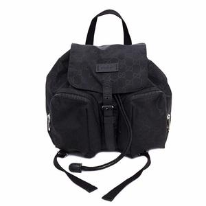 Gucci Rucksack Black Shimalite 406361 213048 Backpack Nylon Leather