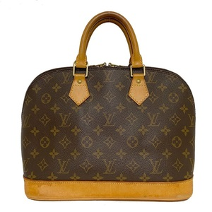 Louis Vuitton Alma PM Brown Monogram M51130 Handbag Nume Leather FL1013 Ladies Tote Bag