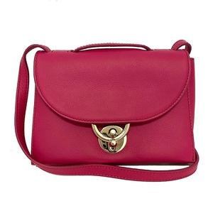 Salvatore Ferragamo Ferragamo Mini Shoulder Bag Pink Stella EZ-21 G851 Pochette Calf Leather Ladies