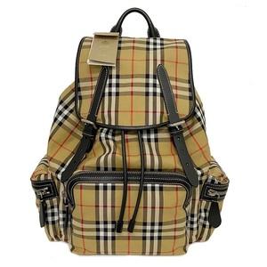 Burberry Rucksack Beige Vintage Check 4069748 Backpack Nylon Leather Women's Men's Unisex