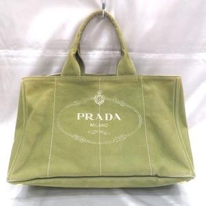 Prada PRADA Kanapa Light Green Bag Tote Handbag Ladies
