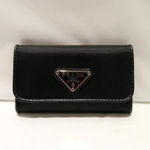 Prada PRADA Nylon 6 Key Case 1M0222 Black Unisex